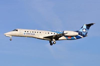 Contour Airlines Embraer ERJ 135LR (EMB-135LR) N17513 (msn 145292) (OneJet colors) BWI (Tony Storck). Image: 945283.