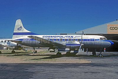 Cosmopolitan Airlines Convair 440-40 N136CA (msn 400) (Finnair colors) TUS (Andrew Abshier - Christian Volpati Collection). Image: 945127.