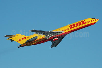 DHL - Astar Air Cargo Boeing 727-264 (F) N765AT (msn 23014) MIA (Bruce Drum). Image: 100393.
