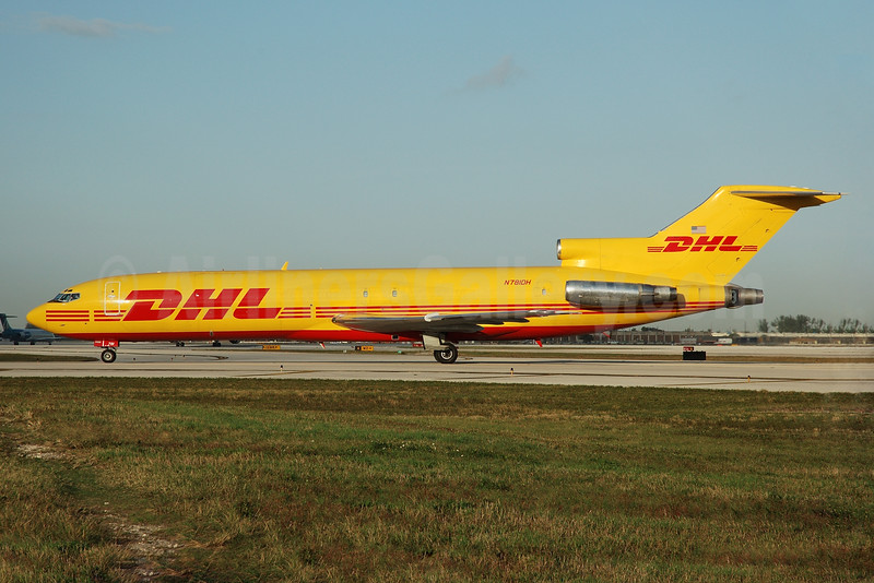 DHL - Astar Air Cargo Boeing 727-227 (F) N781DH (msn 21996) MIA (Bruce Drum). Image: 100179.