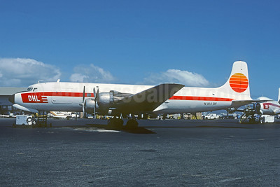 DHL Cargo (Hawaii) Douglas C-118A-DO (DC-6A) N104DH (msn 43706) HNL (Christian Volpati Collection). Image: 941625.