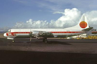 DHL Cargo (Hawaii) Lockheed 188C (F) Electra N856U (N107DH) (msn 2013) HNL (Bruce Drum Collection). Image: 950964.