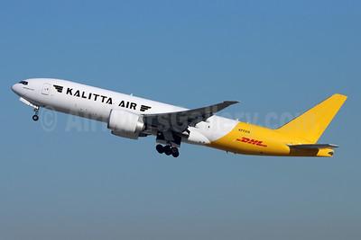 DHL-Kalitta Air (2nd) Boeing 777-F1H (F) N772CK (msn 35607) LAX (Michael B. Ing). Image: 952406.