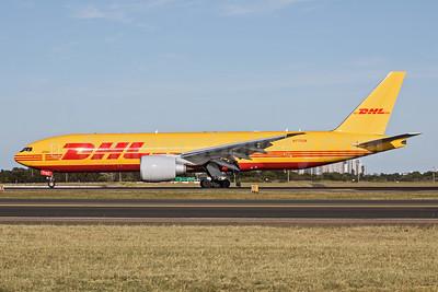 DHL-Kalitta Air (2nd) Boeing 777F N775CK (msn 66087) SYD (John Adlard). Image: 952670.