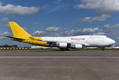 DHL-Kalitta Air (2nd) Boeing 747-4H6 (BCF) N740CK (msn 24405) AMS (Ton Jochems). Image: 941970.