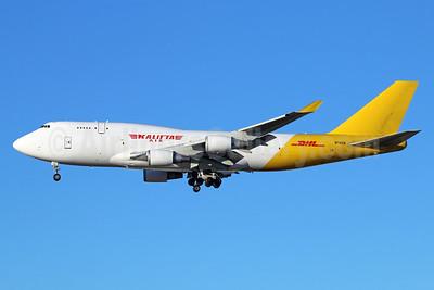 DHL-Kalitta Air (2nd) Boeing 747-4H6 (BCF) N740CK (msn 24405) ANC (Michael B. Ing). Image: 941969.