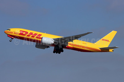 DHL-Kalitta Air (2nd) Boeing 777F N773CK (msn 66083) LAX (Michael B. Ing). Image: 952407.