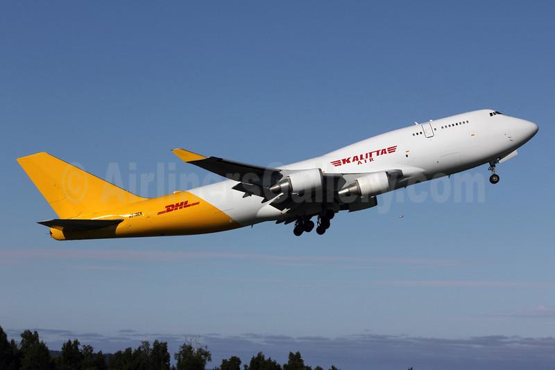 DHL-Kalitta Air (2nd) Boeing 747-4H6 (BCF) N740CK (msn 24405) ANC (Michael B. Ing). Image: 906902.
