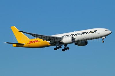 Southern Air (2nd)-DHL Boeing 777-FZB N775SA (msn 37987) ANC (Michael B. Ing). Image: 923508.