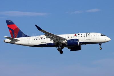 Delta Air Lines Airbus A220-100 (CS100 BD-500-1A10) N125DU (msn 50044) SNA (Michael B. Ing). Image: 953994.