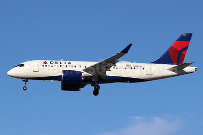 Delta Air Lines Airbus A220-100 (CS100 BD-500-1A10) N122DU (msn 50041) SNA (Michael B. Ing). Image: 948430.