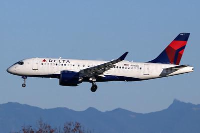 Delta Air Lines Airbus A220-100 (CS100 BD-500-1A10) N115DU (msn 50034) SEA (Michael B. Ing). Image: 948054.