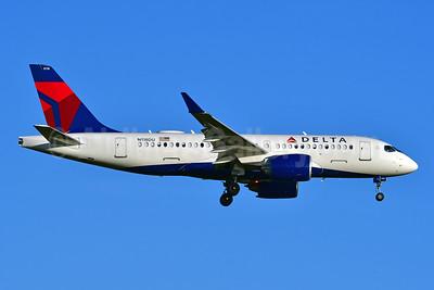 Delta Air Lines Airbus A220-100 (CS100 BD-500-1A10) N118DU (msn 50037) JFK (Ken Petersen). Image: 947714.