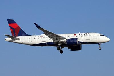 Delta Air Lines Airbus A220-100 (CS100 BD-500-1A10) N134DU (msn 50053) SNA (Michael B. Ing). Image: 954013.