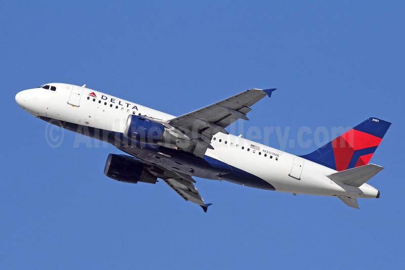 Delta Air Lines Airbus A319-114 N301NB (msn 1058) LAX (Michael B. Ing). Image: 921469.