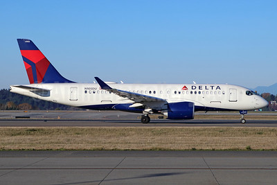 Delta Air Lines Airbus A220-100 (CS100 BD-500-1A10) N105DU (msn 50024) SEA (Michael B. Ing). Image: 948019.