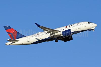 Delta Air Lines Airbus A220-100 (CS100 BD-500-1A10) N111NG (msn 50030) DFW (Jarrod Wilkening). Image: 952679.