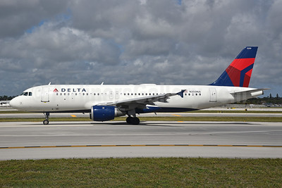 Delta Air Lines Airbus A320-211 N350NA (msn 418) FLL (Bruce Drum). Image: 104644.