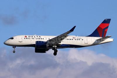 Delta Air Lines Airbus A220-100 (CS100 BD-500-1A10) N115DU (msn 50034) SEA (Michael B. Ing). Image: 948053.