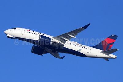 Delta Air Lines Airbus A220-100 (CS100 BD-500-1A10) N113DQ (msn 50032) SNA (Michael B. Ing). Image: 948272.