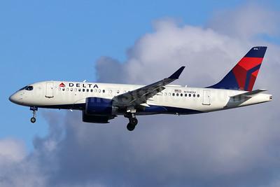 Delta Air Lines Airbus A220-100 (CS100 BD-500-1A10) N114DU (msn 50033) SEA (Michael B. Ing). Image: 948052.