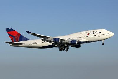 Delta Air Lines Boeing 747-451 N669US (msn 24224) AMS (Wim Callaert). Image: 944257.