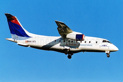 Delta Connection - ACA - Atlantic Coast Airlines Fairchild-Dornier 328-310 (328JET) N411FJ (msn 3166) DCA (Brian McDonough). Image: 950004.