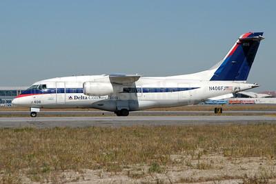 Delta Connection - ACA - Atlantic Coast Airlines Fairchild-Dornier 328-310 (328JET) N406FJ (msn 3156) JFK (Fred Freketic). Image: 950003.