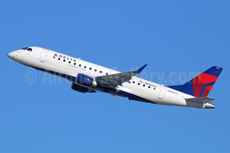 Delta Connection-Compass Airlines Embraer ERJ 170-200LR (ERJ 175) N606CZ (msn 17000188) LAX (Michael B. Ing). Image: 931073.