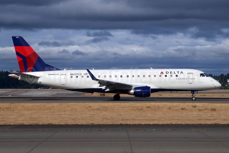 Delta Connection-Compass Airlines Embraer ERJ 170-200LR (ERJ 175) N637CZ (msn 17000256) SEA (Michael B. Ing). Image: 947249.