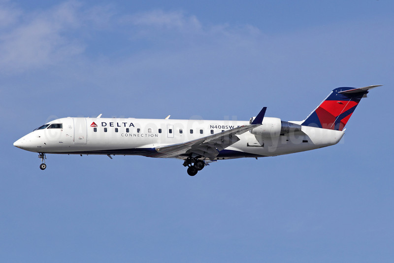 Delta Connection-SkyWest Airlines Bombardier CRJ200 (CL-600-2B19) N408SW (msn 7055) LAX (Michael B. Ing). Image: 910492.