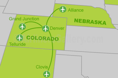 Denver Air Connection Route Map (2020)