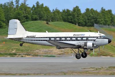 Desert Air Transport Douglas C-47A-DK (DC-3) N44587 (msn 12857) ANC (Keith Burton). Image: 924977.