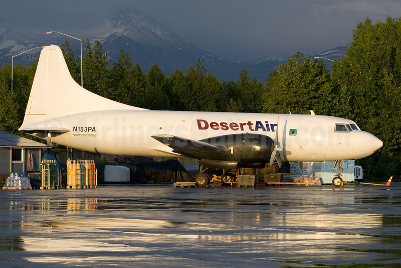 Desert Air Transport Convair 240-27 (VT-29B) N153PA (msn 304) ANC (Rainer Bexten). Image: 903236.