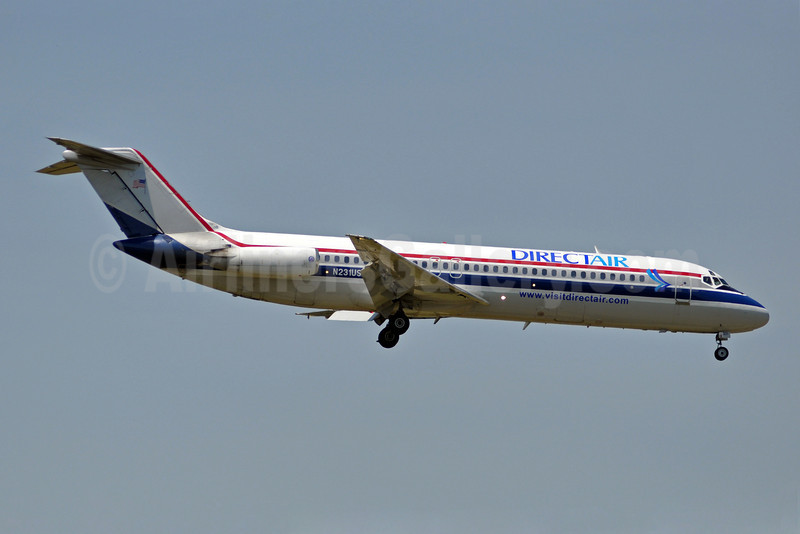 DirectAir-USA Jet Airlines McDonnell Douglas DC-9-31 N231US (msn 48114) (USA Jet colors) MYR (Jan Petzold). Image: 904827.