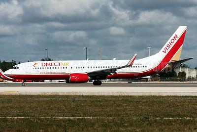 DirectAir-Vision Airlines Boeing 737-8Q8 WL N781VA (msn 28214) MIA (Arnd Wolf). Image: 905760.