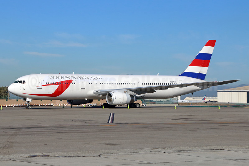 Dynamic Airways (2nd) Boeing 767-336 ER N254MY (msn 25443) (Paraguay Airlines tail) LAX. Image: 935324.