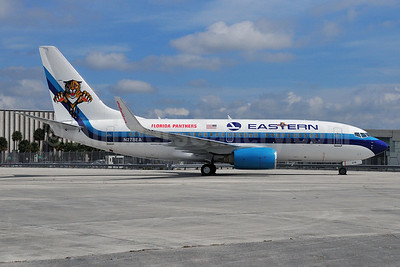 Eastern's first 737-700, Florida Panthers charters