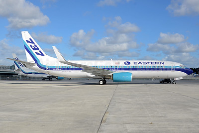 Eastern Air Lines (2nd) Boeing 737-8SH WL N283EA (msn 42059) MIA (Bruce Drum). Image: 104294.