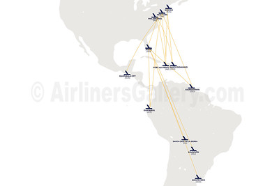 Eastern Airlines (3rd) Route Map (2020)