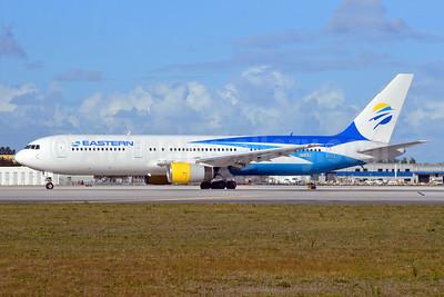 Eastern Airlines (3rd) Boeing 767-336 ER N703KW (msn 24343) MIA (Bruce Drum). Image: 104940.