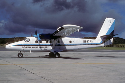 Eastern Metro Express de Havilland Canada DHC-6-300 Twin Otter N933MA (msn 614) STX (Robert D. Trader - Jacques Guillem Collection). Image: 944110.
