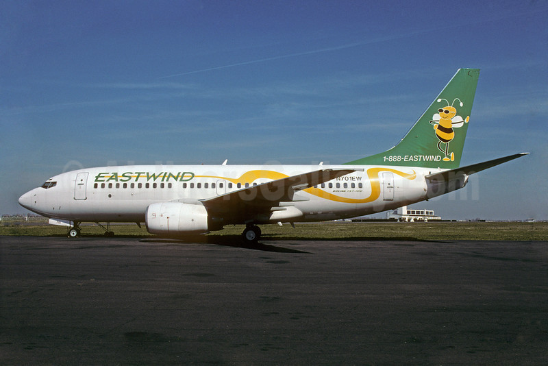 Eastwind Airlines Boeing 737-7AD N701EW (msn 28437) LBG (Jacques Guillem). Image: 907709.