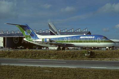 Emerald Air Douglas DC-9-15F N66AF (msn 47152) (Air Florida colors) MIA (Bruce Drum). Image: 103693.