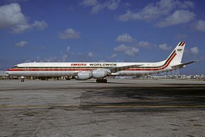 Emery Worldwide McDonnell Douglas DC-8-71 (F) N8177U (msn 45983) MIA (Bruce Drum). Image: 102726.
