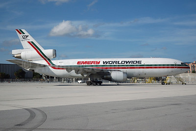 Emery Worldwide McDonnell Douglas DC-10-10 (F) N68047 (msn 47081) MIA (Bruce Drum). Image: 100389.