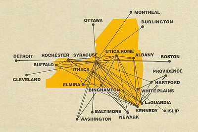 Empire Airlines (2nd) Route Map