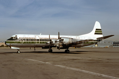 Evergreen International Airlines Lockheed 188A Electra N1006T (msn 1006) LAX (Ron Monroe). Image: 944297.