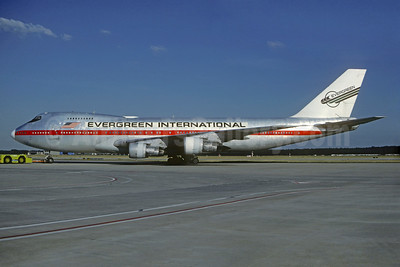Evergreen International Airlines Boeing 747-273C N471EV (msn 20651) (Air India red stripe) FRA (Christian Volpati Collection). Image: 931301.