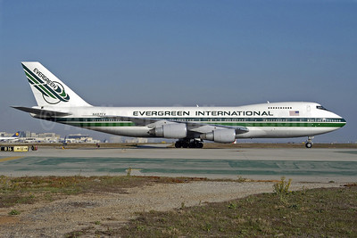 Evergreen International Airlines Boeing 747-230B (SF) N487EV (msn 23286) LAX (Roy Lock). Image: 903316.